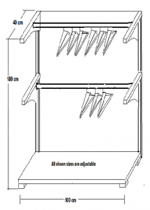 Shelf MLR-type 1m